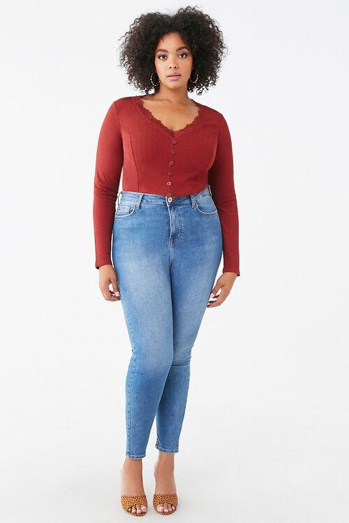 Plus Size Lace-Trim Top, image 4