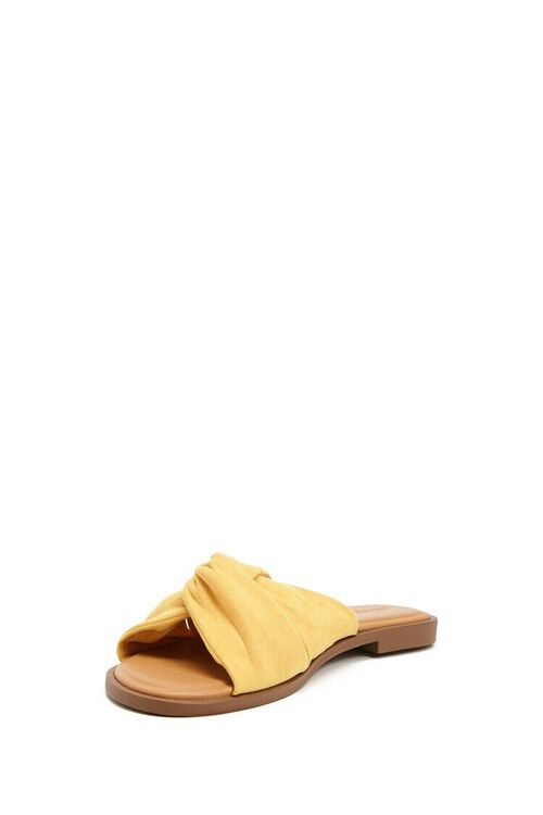 Faux Suede Crisscross Sandals, image 4