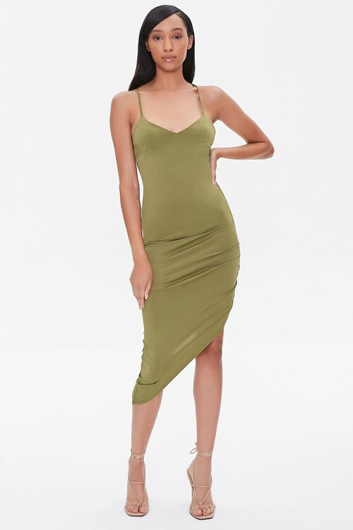 Ruched Bodycon High-Low Dress, image 4