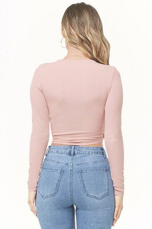 Ribbed Wrap Top, image 3
