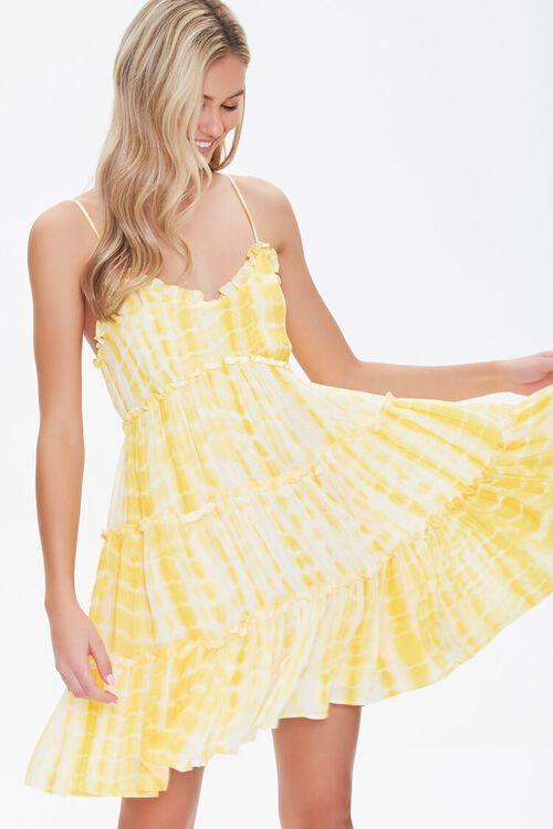 Tie-Dye Fit & Flare Dress, image 1