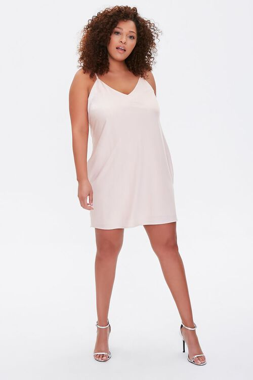 Plus Size Satin Slip Dress, image 4
