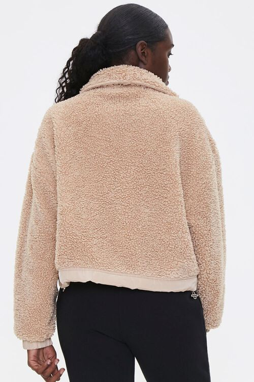 Faux Shearling Zip-Up Jacket, image 3