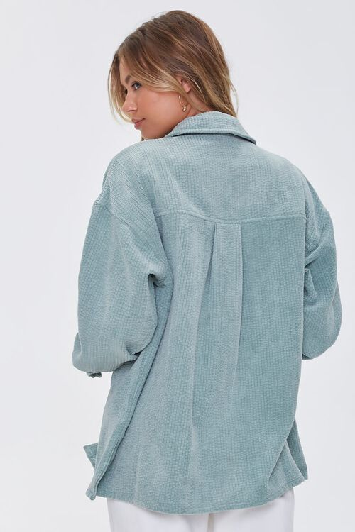 SAGE Corduroy Button-Front Shacket, image 3