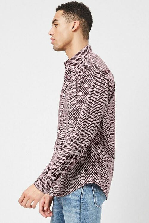 Fitted Geo Print Shirt, image 2