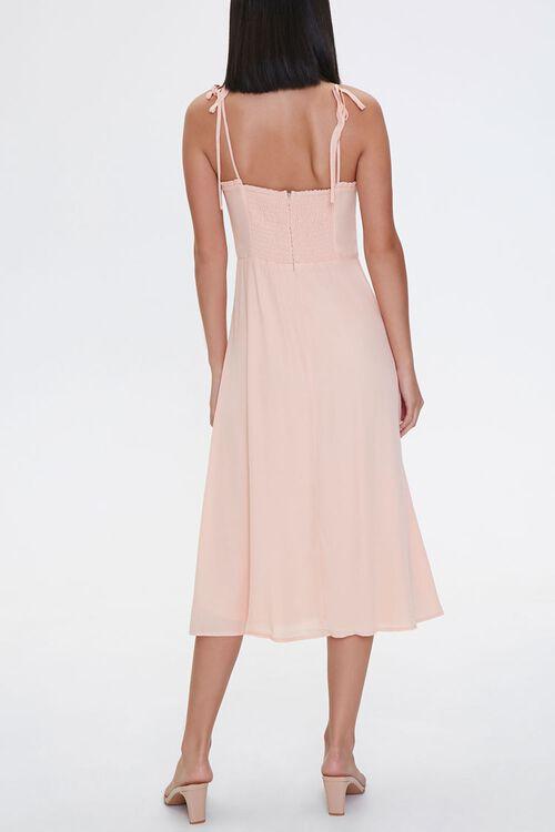 PEACH Tie-Strap Sweetheart Dress, image 3