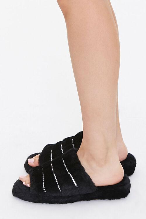 Plush Rhinestone Slippers, image 2