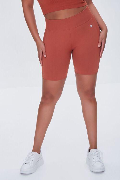 RUST Plus Size Active Biker Shorts, image 2