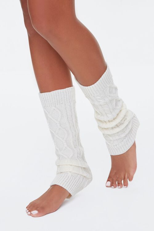 Cable-Knit Leg Warmers, image 1