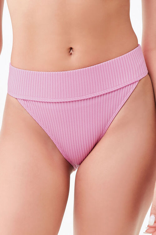 Ribbed High-Rise Bikini Bottoms, image 2