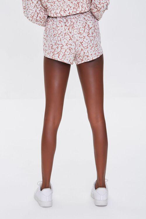 MAUVE/WHITE Active Floral Print Shorts, image 4