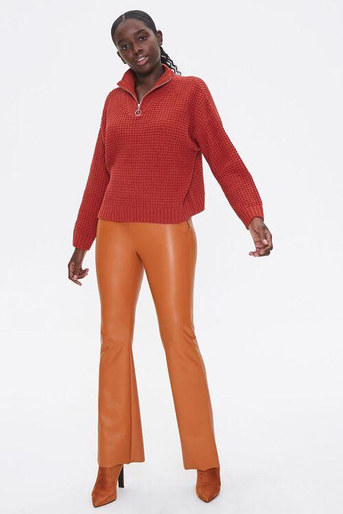 Open-Knit Half-Zip Sweater, image 4