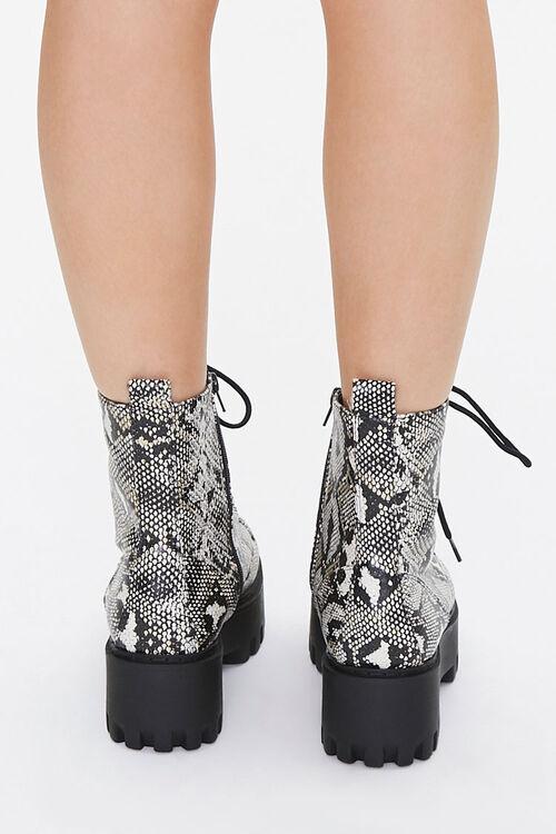 Faux Snakeskin Platform Boots, image 3