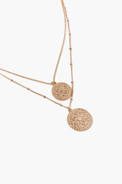 Filigree Pendant Layered Necklace, image 1
