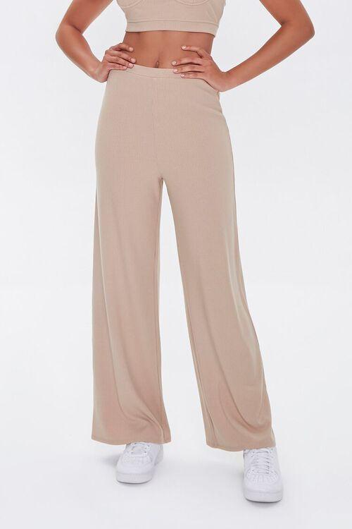 Crop Top & Wide-Leg Pants Set, image 4