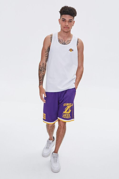 LA Lakers Embroidered Graphic Tank Top, image 5