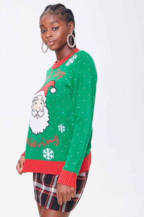 GREEN/MULTI Santa Graphic Sweater, image 2
