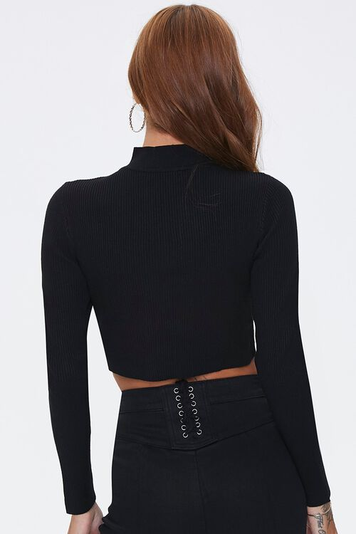 Cropped Cable Knit Sweater, image 3