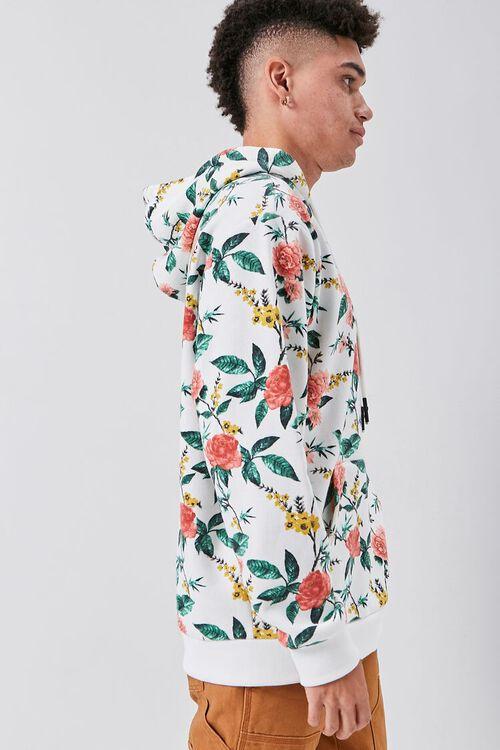 Floral Print Fleece Hoodie, image 2