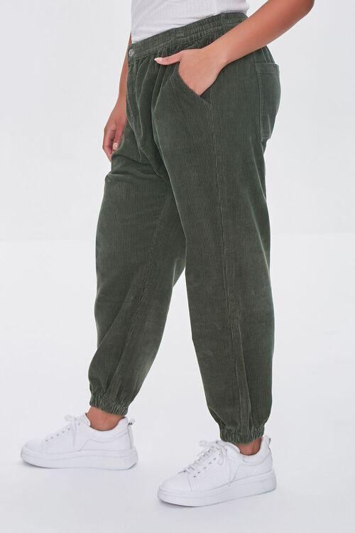 OLIVE Plus Size Corduroy Pocket Joggers, image 3
