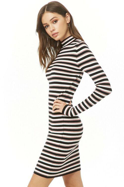 Striped Mock Neck Dress, image 2