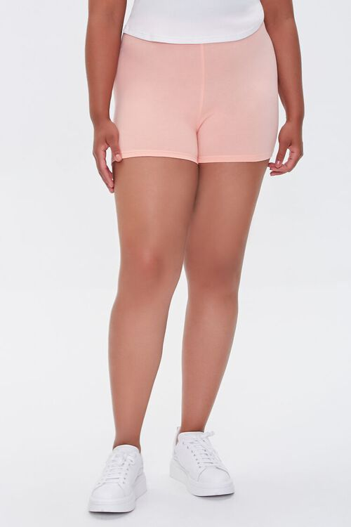 Plus Size Basic Organically Grown Cotton Hot Shorts, image 2
