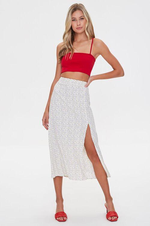 WHITE/MULTI Floral Midi Skirt, image 6