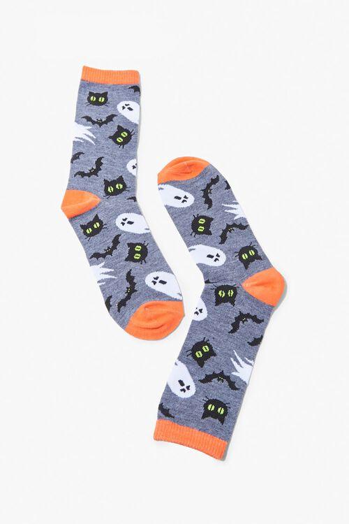 Spooky Print Crew Socks, image 1