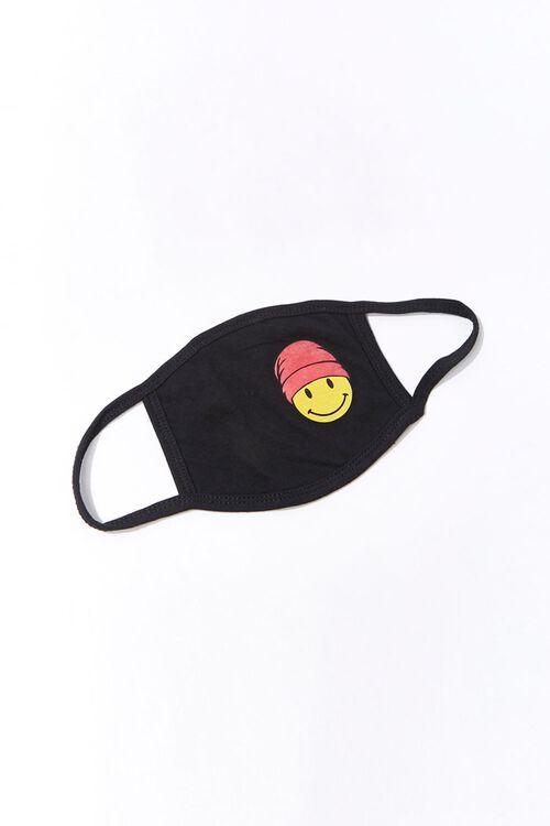 BLACK/MULTI Men Happy Face  Mask, image 1