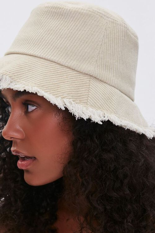 CREAM Frayed Corduroy Bucket Hat, image 2