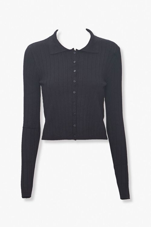 Collared Button-Down Cardigan, image 1