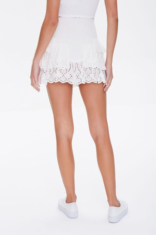 Smocked Flounce Mini Skirt, image 4