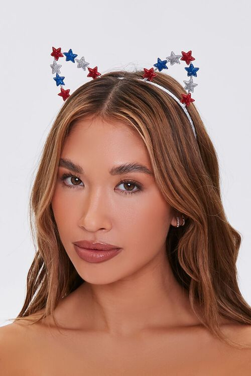 Star Charm Cutout Cat Ear Headband, image 1