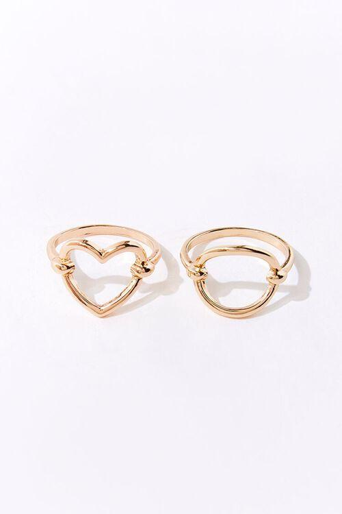 GOLD Cutout Charm Ring Set, image 2