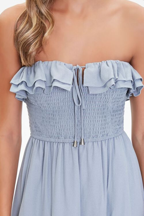 Strapless Ruffle-Trim Maxi Dress, image 5