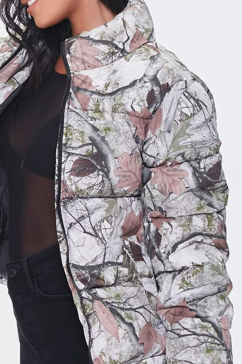 OLIVE/MULTI Forest Camo Print Puffer Jacket, image 5