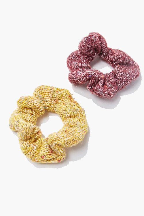 Marled Knit Scrunchie Set, image 1