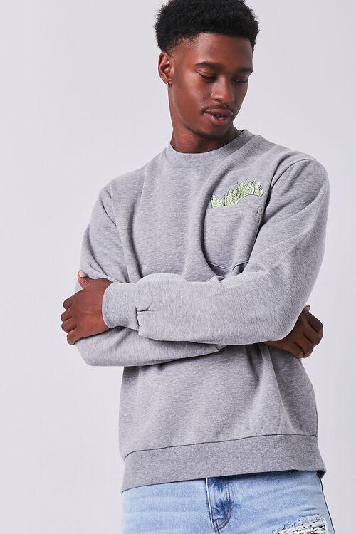 City Embroidered Graphic Sweatshirt, image 1