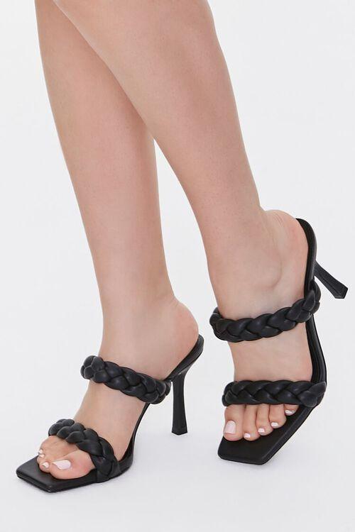 Braided Square-Toe Heels, image 1