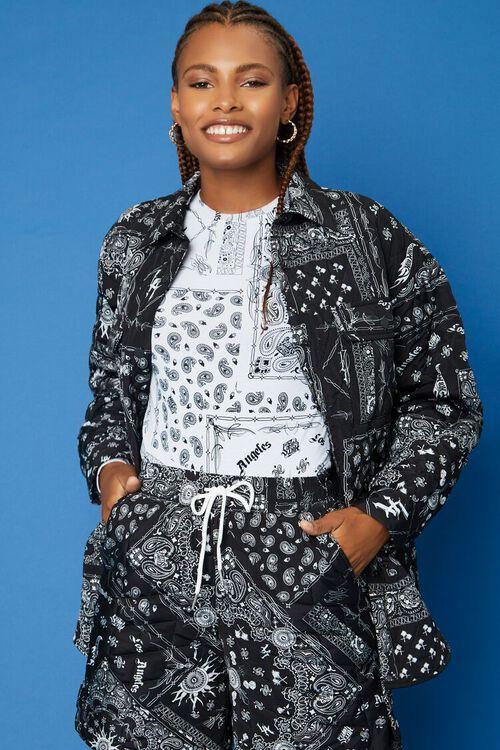 BLACK/WHITE Hot Wheels Paisley Jacket, image 2