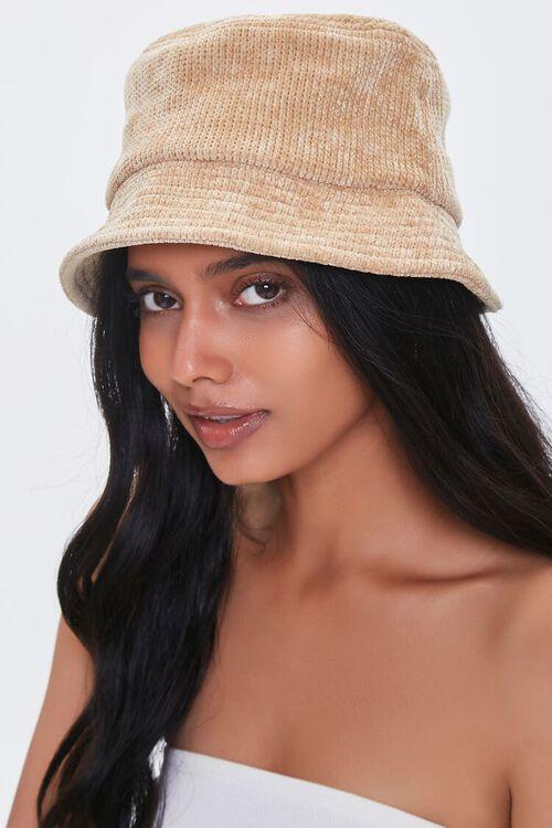 OATMEAL Knit Bucket Hat, image 1