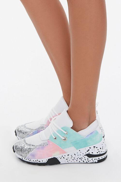 Glitter-Toe Patternblock Sneakers, image 2