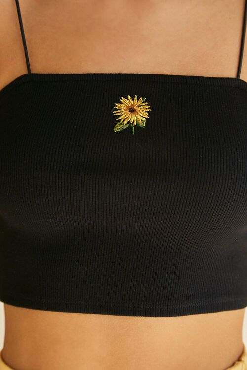 Sunflower Graphic Cropped Cami, image 5