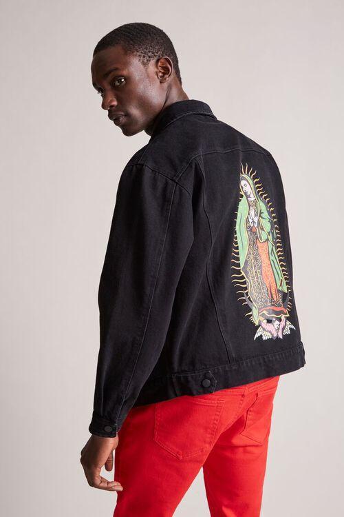 BLACK/MULTI Guadalupe Graphic Denim Jacket, image 1