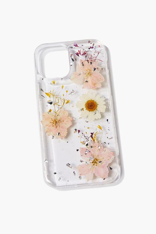 PINK/MULTI Dried Flower Phone Case for iPhone 12, image 1