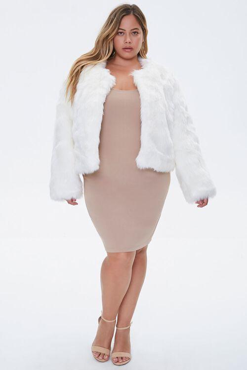 Plus Size Faux Fur Open-Front Jacket, image 4