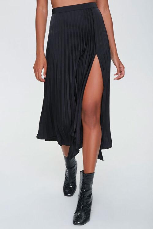 Pleated Accordion Midi Skirt, image 2