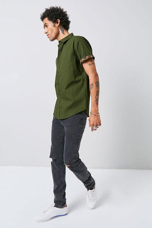 Classic Fit Camo-Trim Shirt, image 4