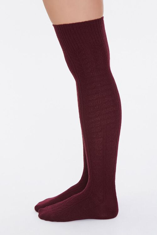 Cable Knit Over-the-Knee Socks, image 2