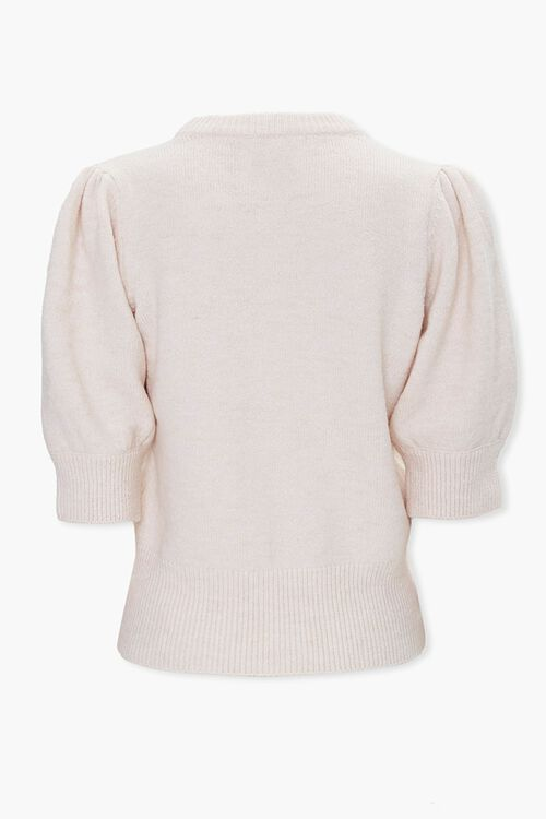 Sweater-Knit Puff-Sleeve Top, image 2